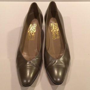 Salvatore Ferragamo block heel. Size 8.5AAAA